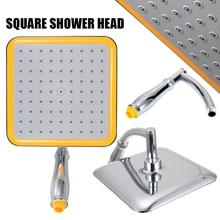 Mayitr Large Square Shower Head ABS Chrome Water Rains Sprayer Top Showerhead Extension Arm For Bathroom Set