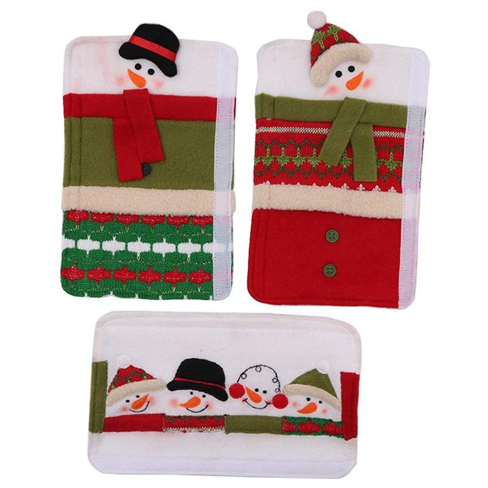 Adorable:  3 PCS Adorable Snowman Refrigerator Handle Covers Set Cute &Practical Fridge Door Covers Protective Kitchen Appliance Covers P - Martin's & Co