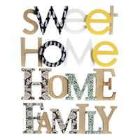Nordic Style 3D HOME Letter Decoration Wooden Natural INS Wall Hanging Ornament New Year Gift Home Decor Alphabet Ornament