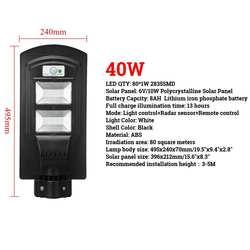20/40 W светодиодный стены лампа, уличный фонарь радар motion 2 в 1 постоянно яркий и индукции солнечный Сенсор свет дистанционного Управление