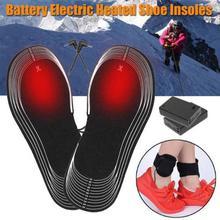 1 пара 4,5 в батарея Электрический ноги с подогревом обуви стельки для обуви 31*11 см нагреватель носок снег ноги зимние теплые стельки с подогревом 5 мм