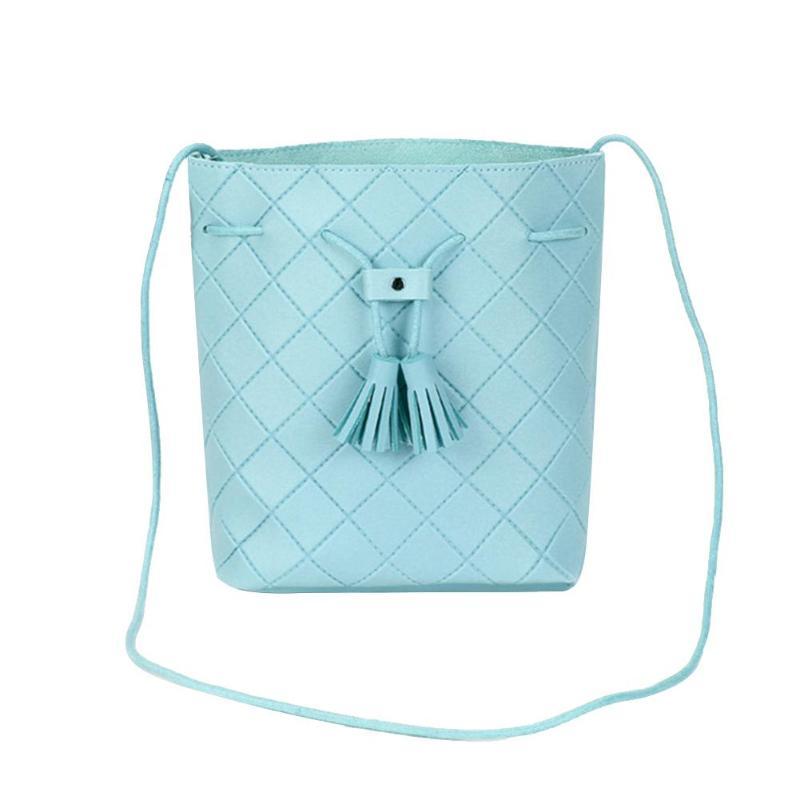 PU Leather Tassel Crossbody Bag For Women Ladies Shoulder Bucket Bag Casual Female Messenger Bag Bolsa Feminina