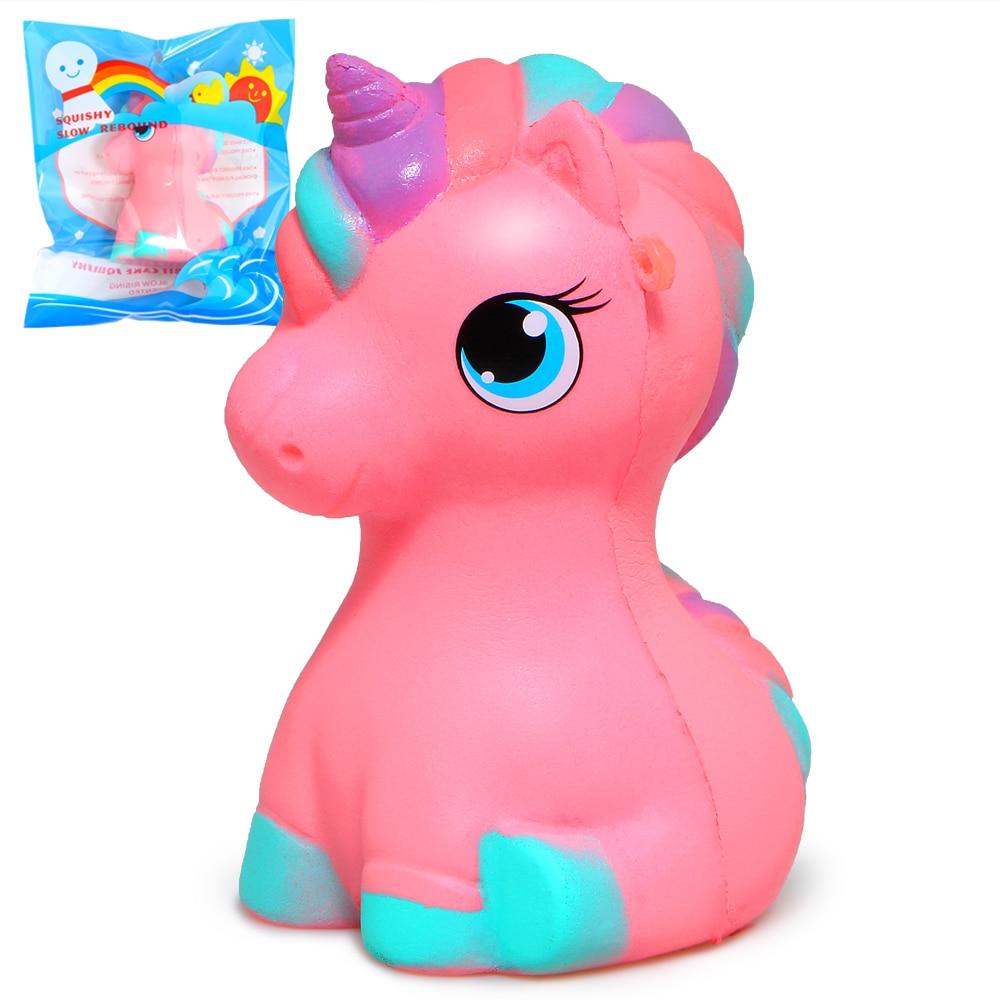 Jumbo Unicorn/Horse Squishy Cute Rainbow Squishies Slow Rising Cream Scented Kid Toys