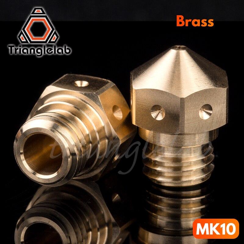 Trianglelab Swiss MK10 Nozzle PTFE For Micro Swiss Hotend M7 Thread 3D Printer Wanhao FlashForge Qidi Tech Dremel Etc.