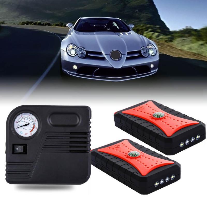12 V-16 V boussole Type Auto voiture saut démarreur batterie externe ordinateur portable chargeur de téléphone avec Signal lumineux pour l'éclairage ou SOS éviter les accidents