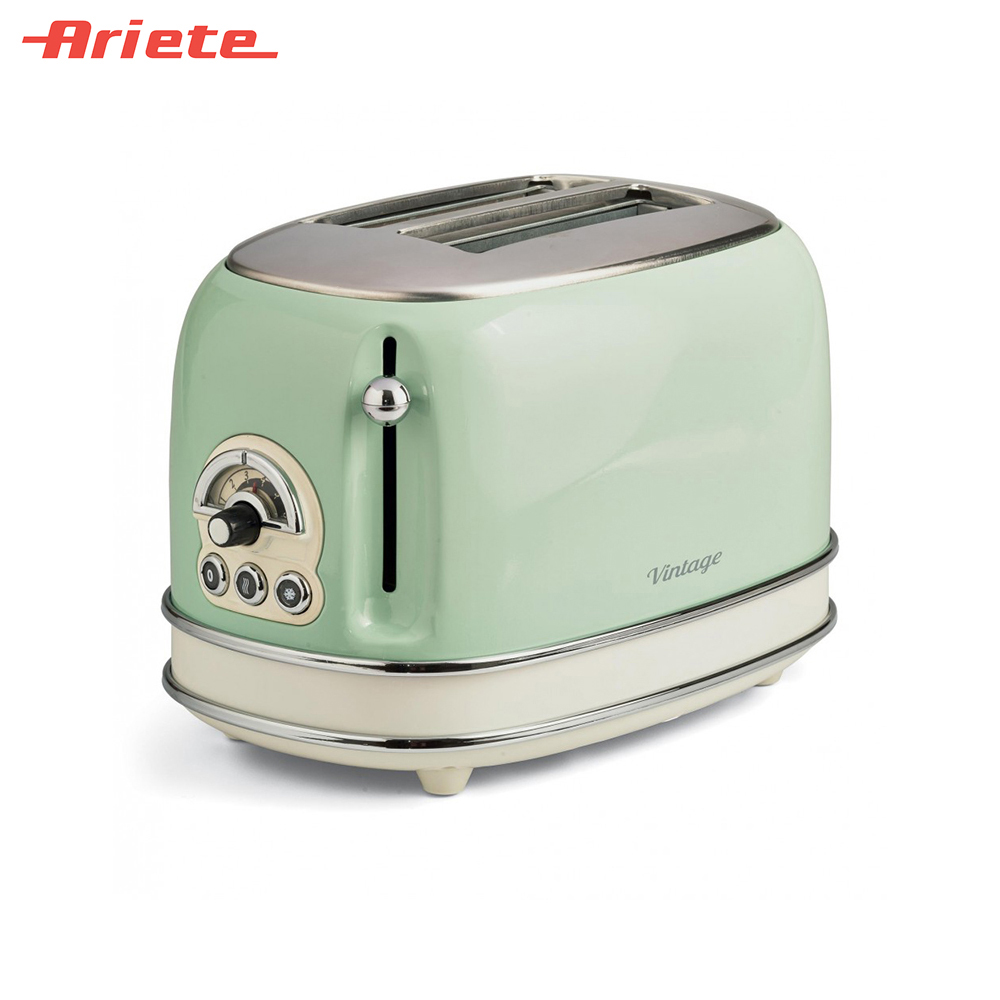 Toasters Ariete 8003705114913 Household Automatic Bread Toaster Baking Breakfast Machine Stainless steel 2 Slices Bread Maker