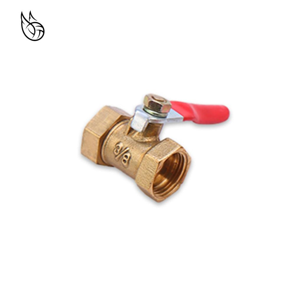 Brass Ball Valve 1/4'' 3/8'' 1/2'' Female Thread Ball Valve Brass Connector Joint Copper Pipe Fitting Coupler Adapter