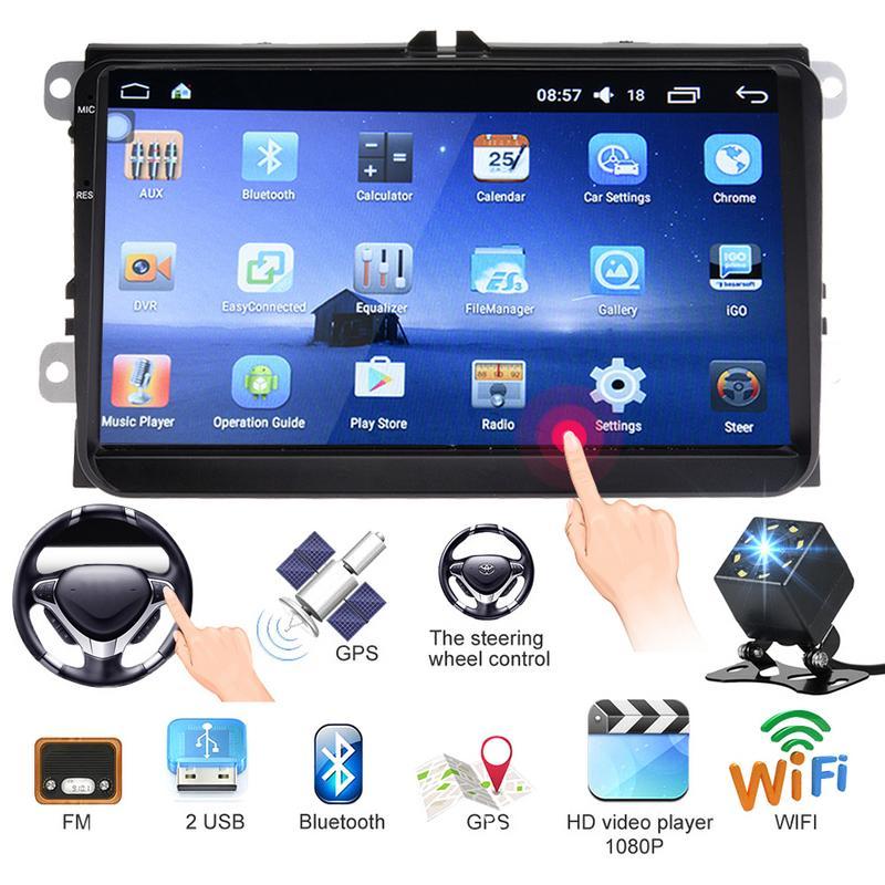 Ультра Тонкий 9 дюймовый посвященный Android 6,0 автомобилей WI FI плеер gps навигатор HD обращая видео телефон Управление рулевого управления колес