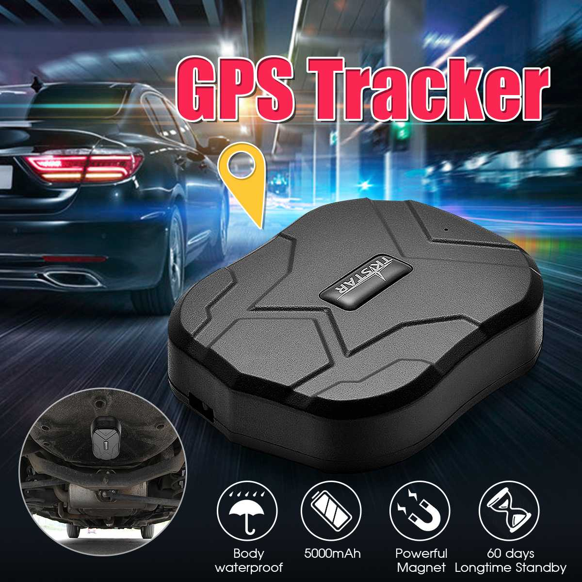 TK905 Waterproof GPS GSM GPRS Tracker Locator For Car Vehicle Pet Kid Old ManTK905 Waterproof GPS GSM GPRS Tracker Locator For Car Vehicle Pet Kid Old Man