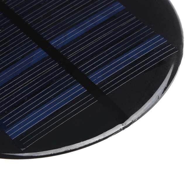 CLAITE Solar Power 6V 2W 0.35A 80MM DIY Mini Polycrystalline Silicon Solar Cell Module Circle Round Solar Panel Epoxy Board 5