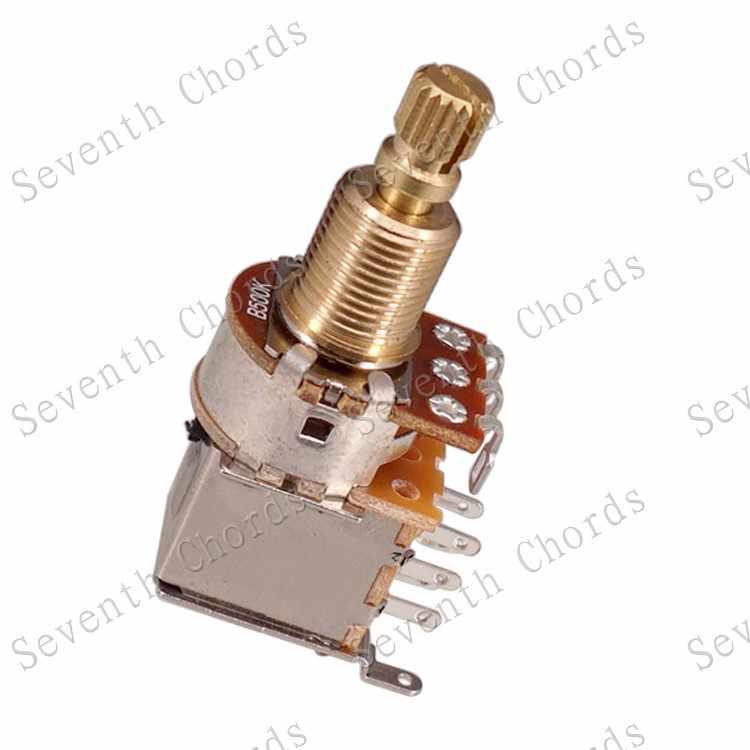 2 uds latón eje dividido bajo empujar, empujar, interruptor de potenciómetro de la palanca de Control ollas-A25K B25K A50K B100K A250K A500K B500k