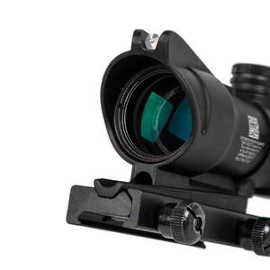 Image 3 - 4X32 Hunting Riflescope Real Fiber Optics Grenn Red Dot Illuminated Etched Reticle Tactical Optical Sight