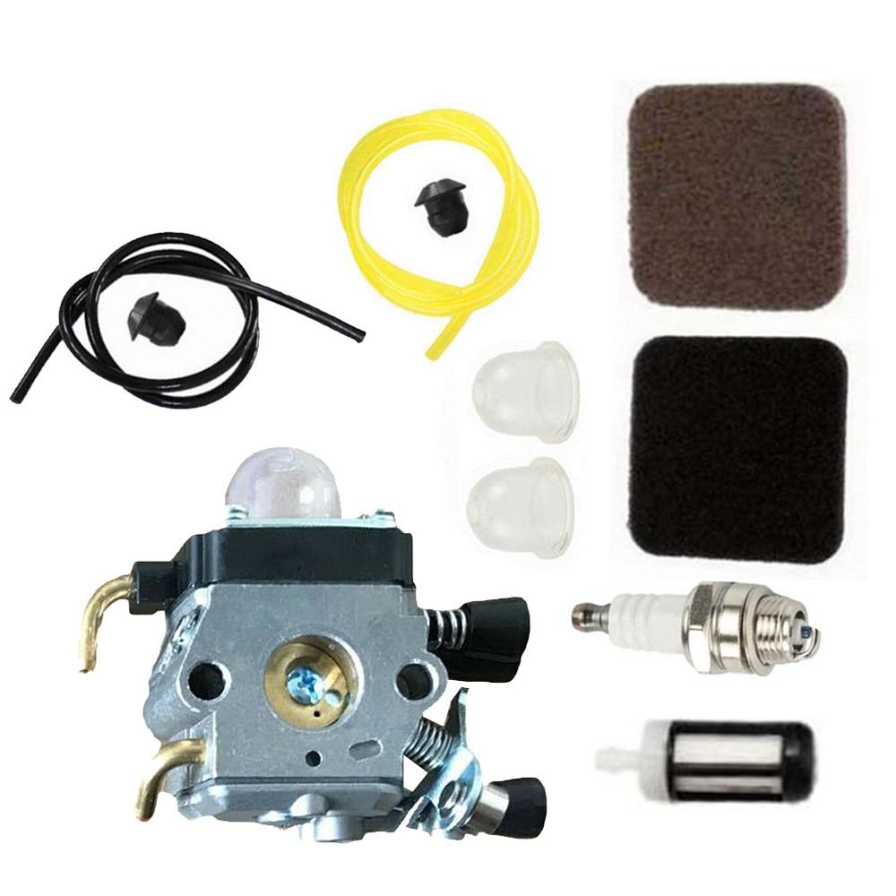 De alta Qualidade Kit de Carburador Para Stihl FS85 FS75 FS80 KM85 HS75 HS80 Gasoduto Filtros de Combustível Carburador KitTools Define Acessórios