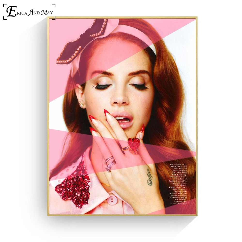 Lana Del Rey Portrait Pop Art Poster And Print Canvas Art Painting Wall Pictures For Living Room Decoration Home Decor No Frame Painting Calligraphy Aliexpress