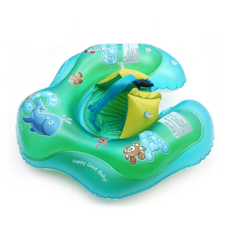 Cartoon Baby Swimming Ring Anti Rollover Portable Inflatable Pool Float Swim Protector Toy For Bathtub Pools Accessories Safety