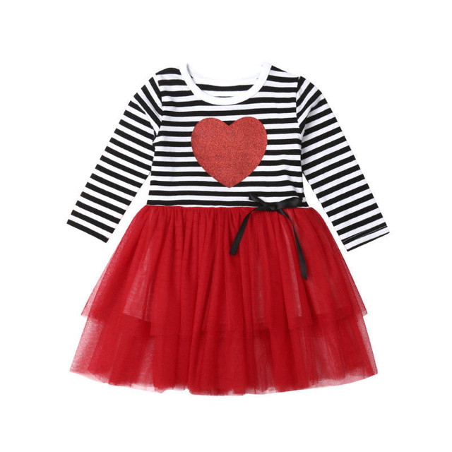 US $7 3 24% OFF|2019 New Valentines Day Baby Girl Dress Princess Girls Tutu  Dress Toddler Kids Clothes Baby Pageant Birthday Outfits-in Dresses from