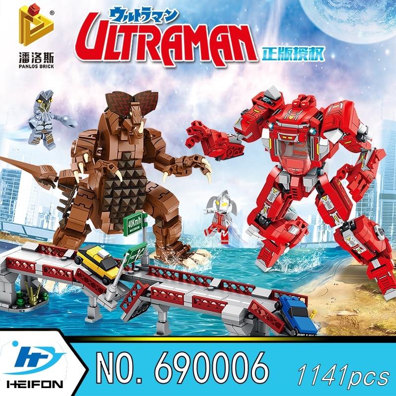 Genuine licensing Gomora the Great Beast of Ultraman War Anime model Building Blocks Bricks Compatible Panlos