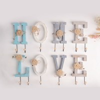 Nordic Style Home Decoration Hook Cute Cartoon Letter Style Hanger Key Wall Decoration The New Listing Hot Sale