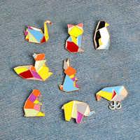 Hot Enamel Pins Rabbits  Bear Cute Women Girls Brooch Popular Elephant Animal Backpack Pins Fashion Jewelry