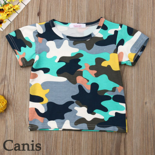 White Realtree Camo Infant Girl Short Sleeve T-Shirt Ruffles Graphic Tees for 2-6 Years Old Baby