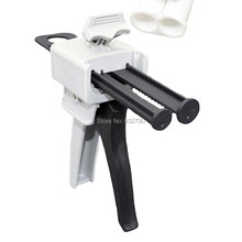 50ml 1:1 2:1 Dispensing Gun 2-part Glue Gun Manual Applicator Epoxy Resin Mix Acrylic Structural Adhesive Guns Mixing Dispenser