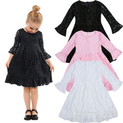 Fashion Newborn Kids Baby Girls Lace Dress Tulle Party Christmas Pageant Bridesmaid Formal Flower Dresses Gift