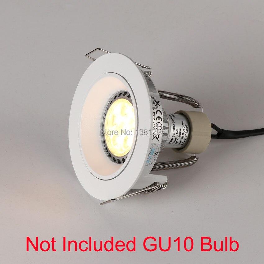 10pcs Trimless Downlight Round Spot LED encastrable Lamp GU10 Fitting Recessed Ceiling Spot Lighting GU 10