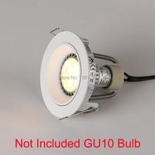 10 Chiếc Trimless Đèn LED Âm Trần (Downlight Encastrable Plafond Đèn GU10 Lắp Đèn Ốp Trần Khung Đèn GU 10 Ổ Cắm Nhà Đèn