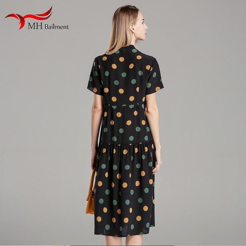 Femme D'été Polka Haute Élégant Taille Robe Plage Imprimer 2019 Dot D Black Pour Été En Maison Nouveau Soie 8 De Rétro 5zqIwI4WT