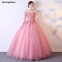 0b81edf3d 2019 Cheap Pink Quinceanera Dresses Ball Gown Off Shoulder Sweet 16 Dress  For 15 Years Debutante. 2019 barato Rosa Vestidos ...