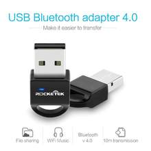Rocketek Bluetooth Adapter USB Dongle for Computer PC Wireless Mouse Bluetooth Speaker 4.0 Music Receiver USB Bluetooth Adapter(China)