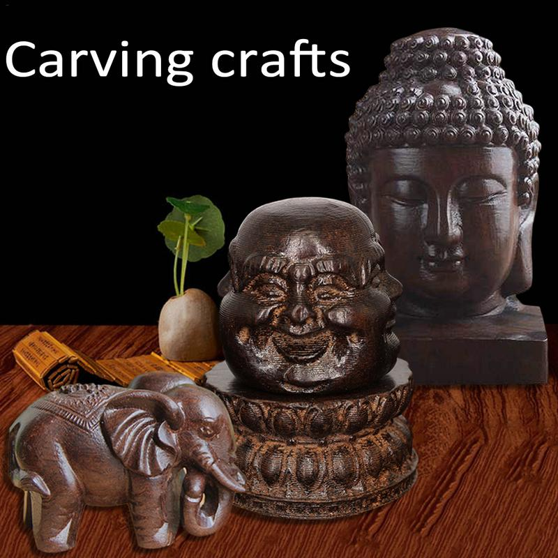 Wooden Carving Boutique Decor Blessing Buddha Arts And Crafts Statue Home Decoration Lucky Gifts Carving Crafts Decoration