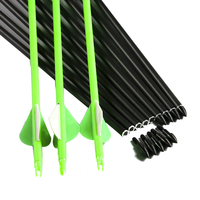 Linkboy Archery 6/12pcs arrows carbon spine 300 340 400 500 600 30/32inch ID6.2mm arrows accessories campound bow hunting