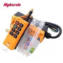 8 Keys Industrial Remote Controller Switch DC12/24V AC36/110/220/380V MKHS-8 2 Transmitter + 1 Receiver Crane