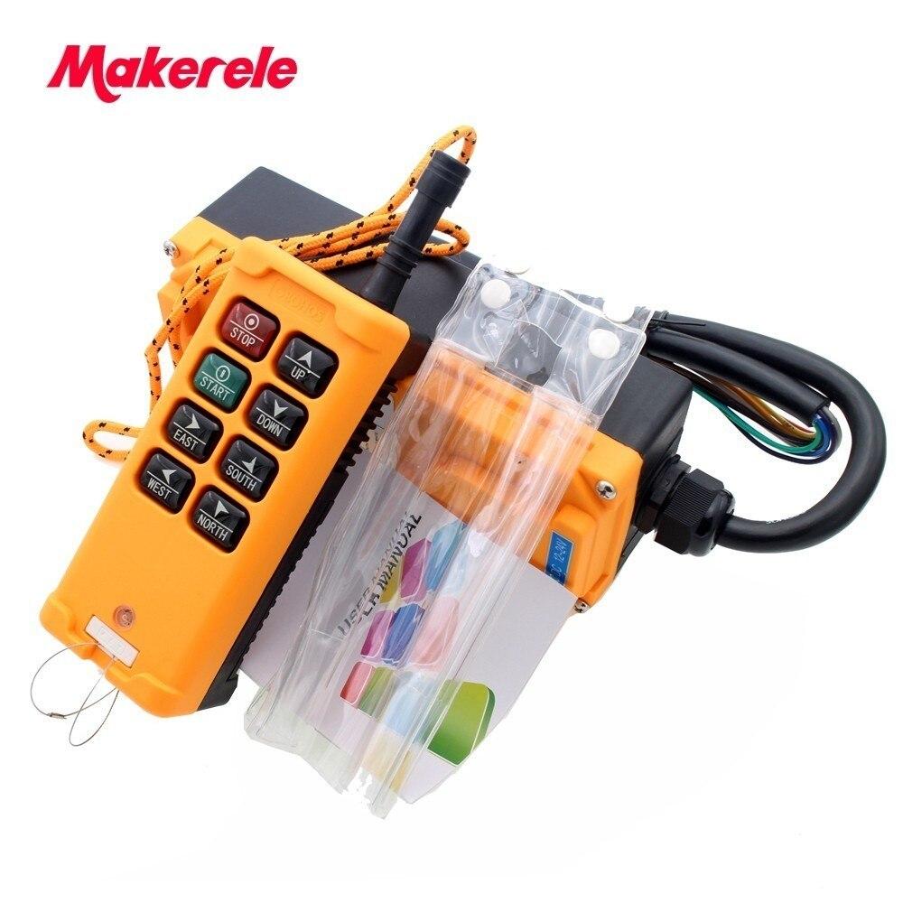 8 touches Industriel Télécommande Commutateur DC12/24 v AC36/110/220/380 v MKHS-8 2 émetteur + 1 Récepteur Grue Émetteur