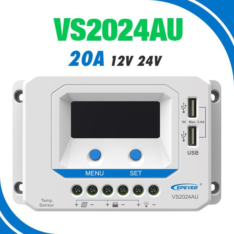 LS 2024B Controlador solar positivo com/ún de la serie EPEVER LS-B 20A Controlador de carga solar