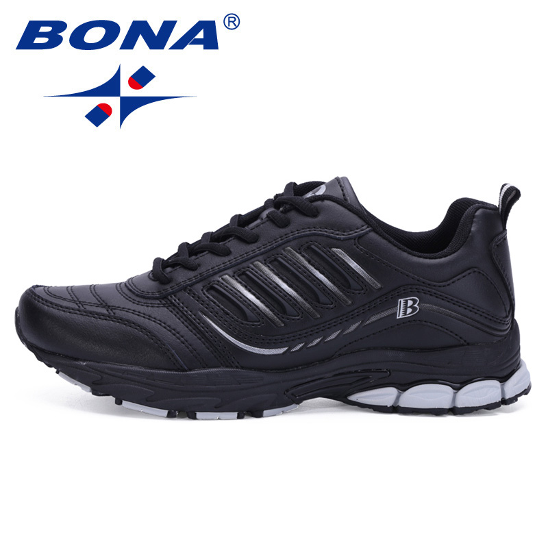 BONA New Most Popular Style Men Running Shoes Outdoor Walking Sneakers Comfortable Athletic Shoes Men  For Sport Free Shipping(China)