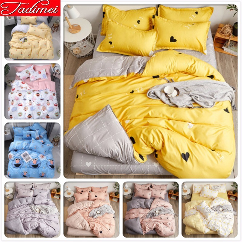 New Fashion Duvet Cover Bedding Set Adult Kid Soft Cotton Bed Linen 150x200 180x220 200x230 220x240 Bedspreads Single Queen Size