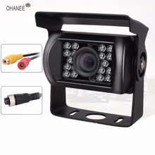OHANEE Truck Backup Camera 18 Led IR Night Vision Waterproof Vehicle Rear View Camera side For 12V 24V Motorhome Trailer Pickups(China)