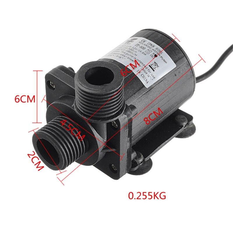 Image 5 - Dc 12 v 24 v 1000l/h bomba de circulação de água quente bomba de  água solar motor sem escova 5.5m ip68 alta qualidadeSapatos   -