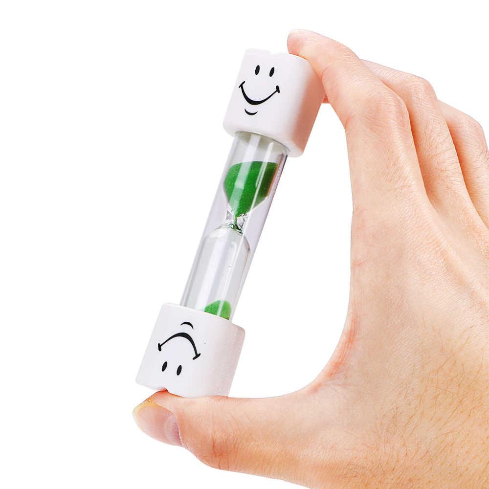 3 minutos relógios ampulheta temporizador escova de dentes para escovar crianças smiley temporizador areia decoração da sua casa