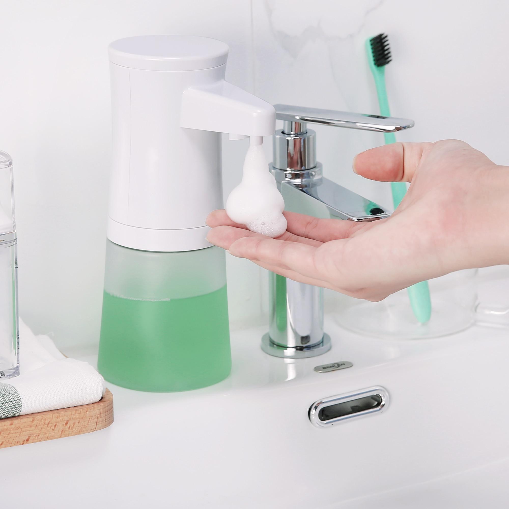 350ML Smart Automatic Foam Soap Dispenser Infrared Sensing Shampoo Shower Gel Universal Touchless Portable Liquid Soap Dispenser