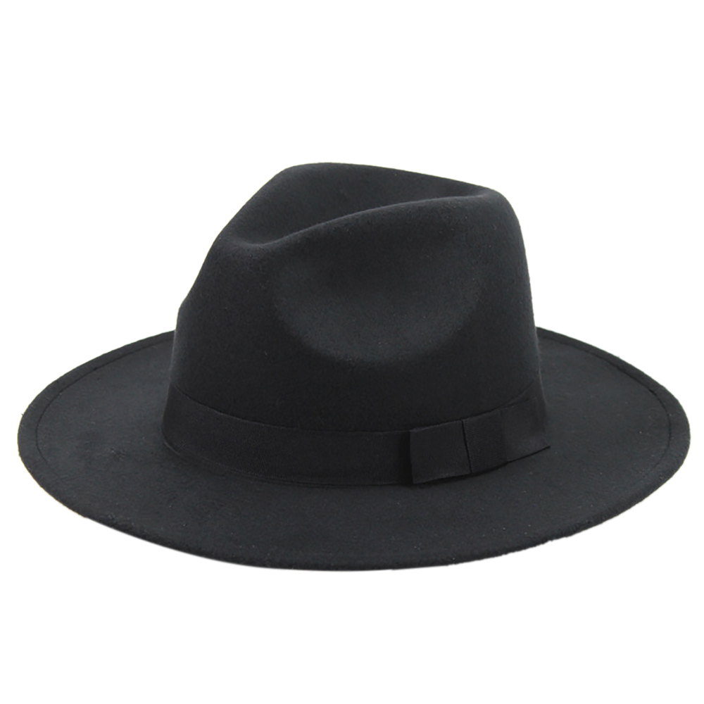 Black Fedora Panama Wide Brim