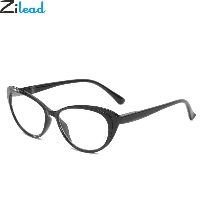 Zilead Retro Cat Eyes Finished Myopia Glassse For Women Clear Lens  Nearsighted Glasses Prescription Eyeglasses Unisex-1.0to-4.0