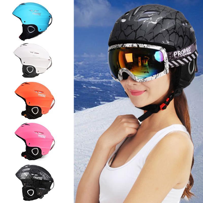 PROPRO Haut de gamme Casque De Ski Placage Ski Casque Enfants Adulte Sports de Plein Air Casque Coupe-Vent Chaud Chapeau