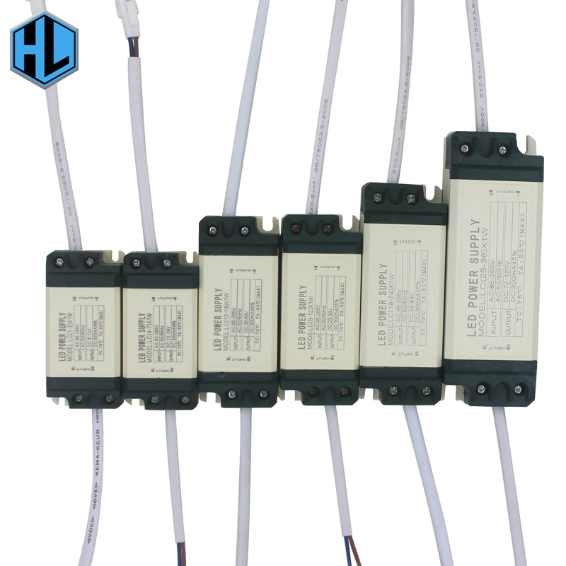 1-3В 4-7В 8-12В 12-18В 18-24В 25-36В пластична шкољка ЛЕД лампица управљачки трансформатор адаптер за напајање за лед жаруље