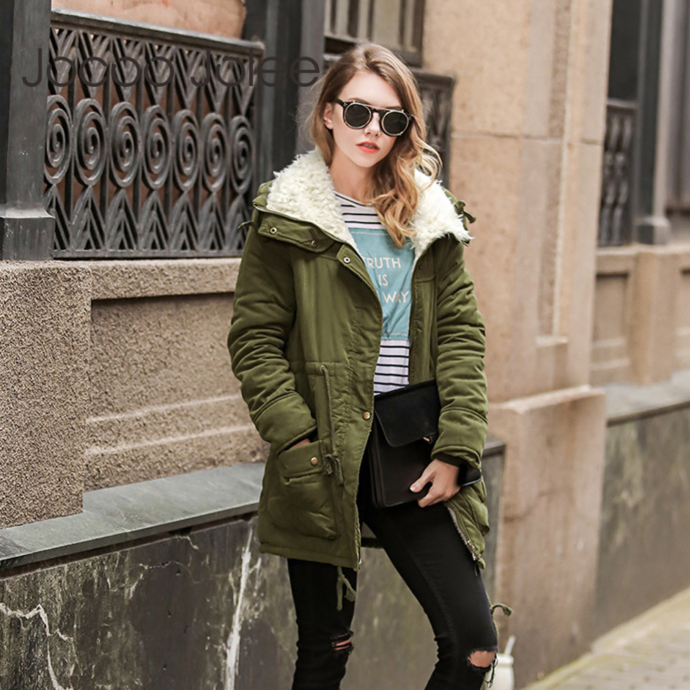 Jocoo Jolee 2018 Winter New Long Coat for Women Wadded Hooded Thicken Snow   Parkas   Warm casual Jacket Outwear Plus Size 3XL