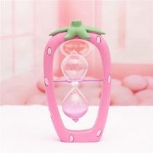 Pink Desktop Sand Glass Home Office Decor Home Figurines Decoration