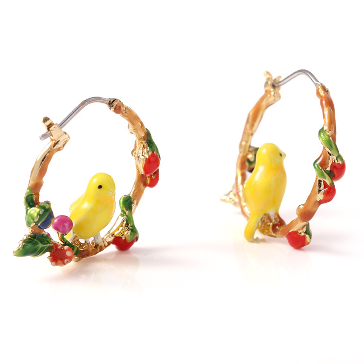 Free shipping colorful birds earringsFree shipping colorful birds earrings