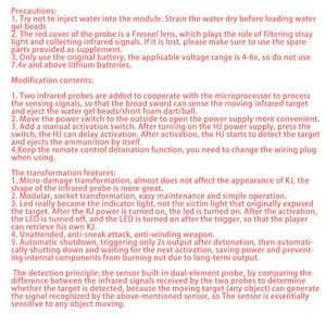 Image 4 - التمويه الأشعة تحت الحمراء التعريفي Claymore هلام مائي الخرز مكافحة شخص فخ لعبة مع محس حركة ل Nerf Airsoft المناورات CS لعبة